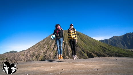 Jumping with Mt.Batok.,Indonesia