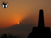 Sunrise at Borobudur.