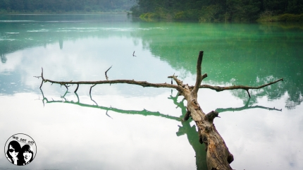 Telaga Warna (The colorful lake), Indonesia