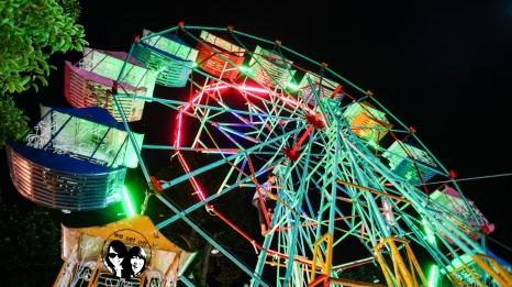 Ferris wheel,Wat Chedi Luang,Chaingmai, Thailand